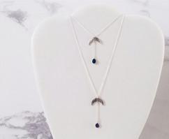 Sterling silver moon pendants