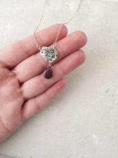 Reticulated silver + amethyst