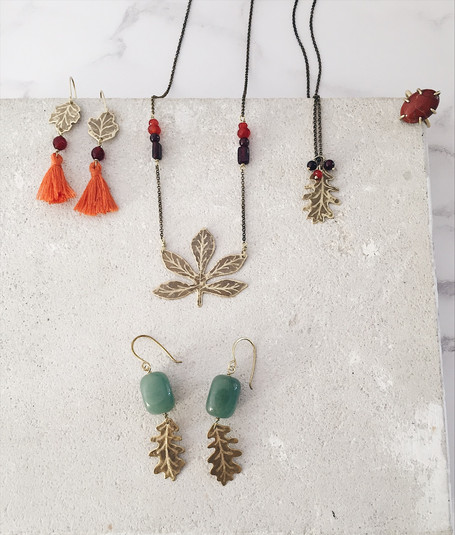 Autumn leaves jewelry