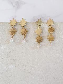 Pole Star earrings - simple brass