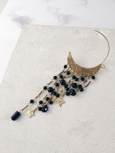 Black Velvet - maxi single cuff earring
