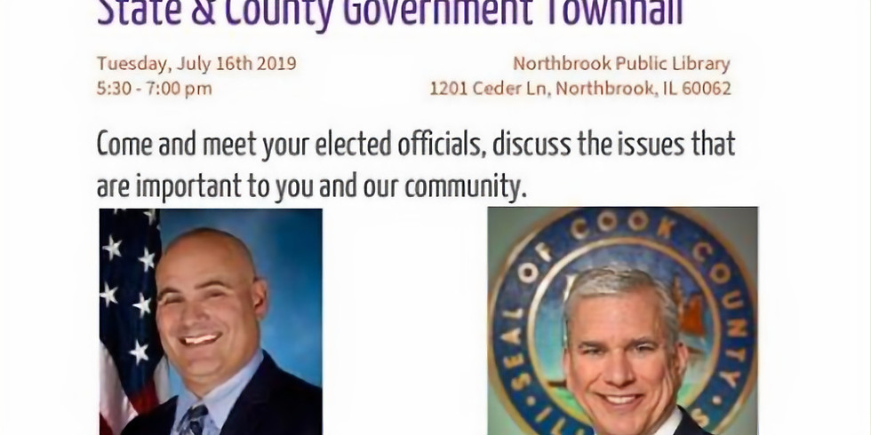 Town Hall with State Rep. Jonathan Carroll & Commissioner Scott Britton