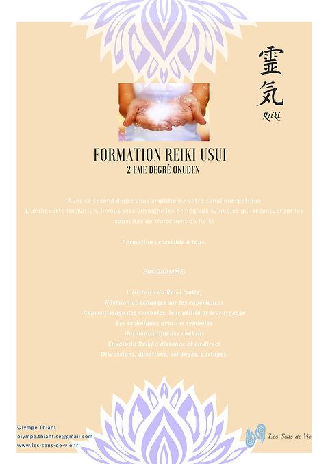 Formation Reiki 2-Reiki Usui niveau 2