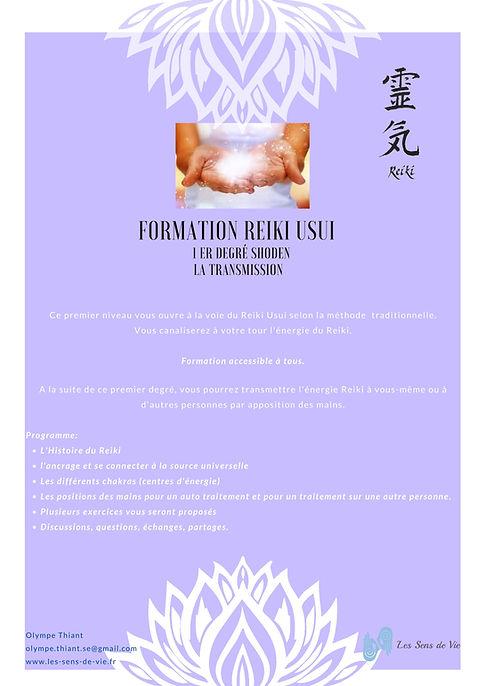 Reiki 1 SHODEN - Formation Reiki niveau 1