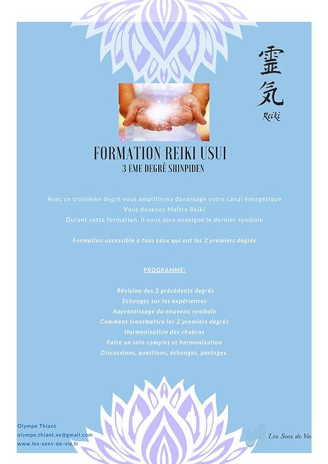 Formation Reiki 3- Reiki Usui niveau 3