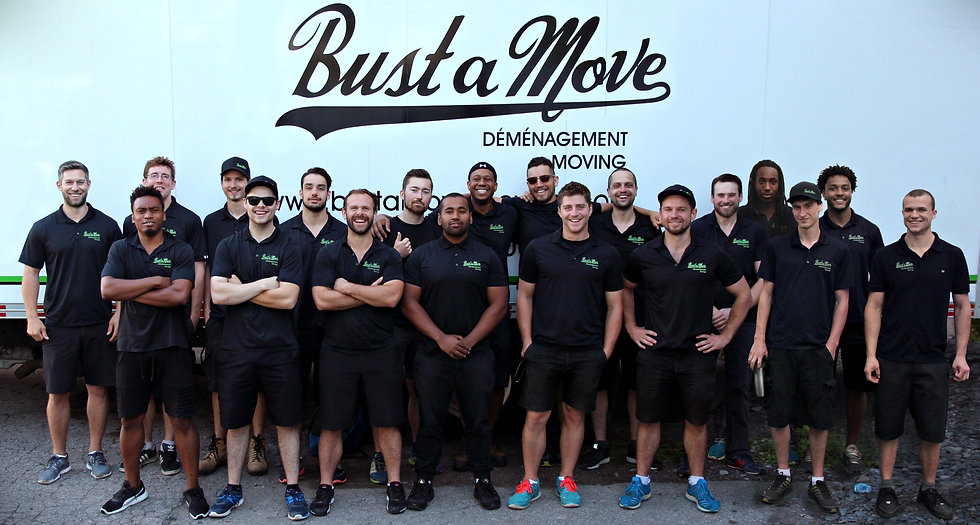 Company photo at Bust a Move Moving. Our team of energetic movers will ensure your move goes smoothly!