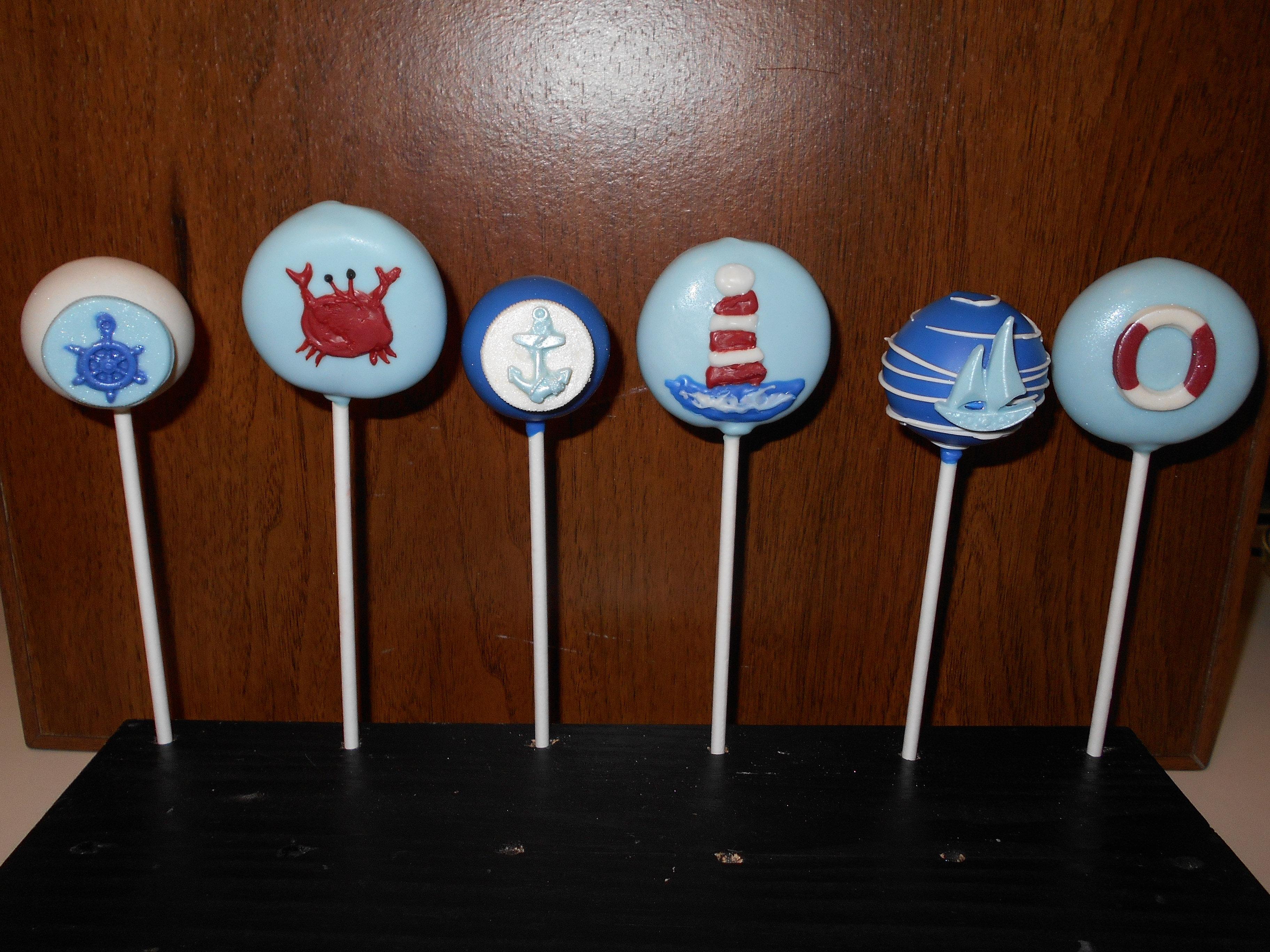 Nautical Cake Pops