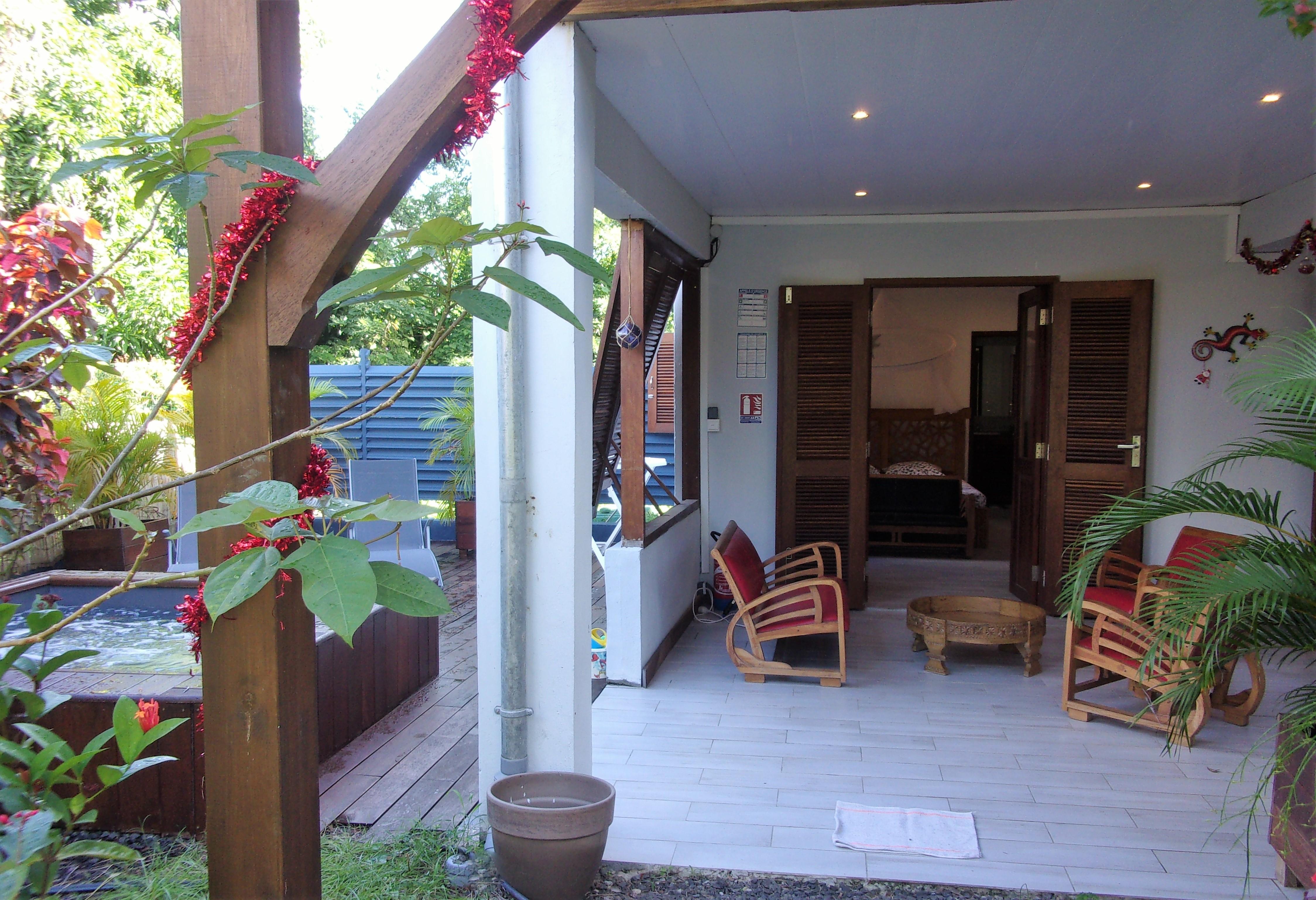 Gîte Aliséa chambre donnant sur terrasse