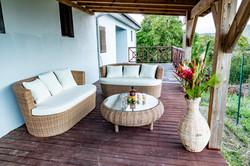 Terrasse piscine villa Pitaya