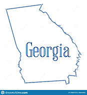 georgia-state-map-outline-over-white-bac