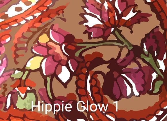 Postkarte Hippie Glow