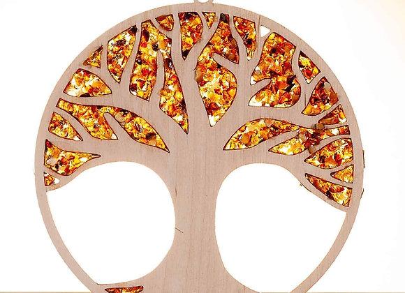 Suncatcher Lebensbaum mit Bernstein