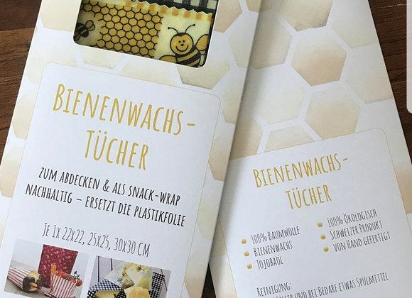 3er - Set Bienenwachstücher