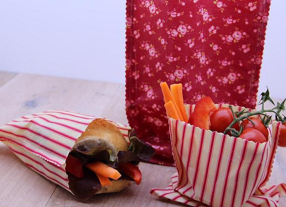 Snack Bag - Bienenwachstuch Gr. S