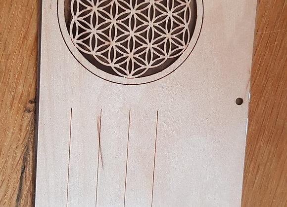 Holzpostkarte Blume des Lebens