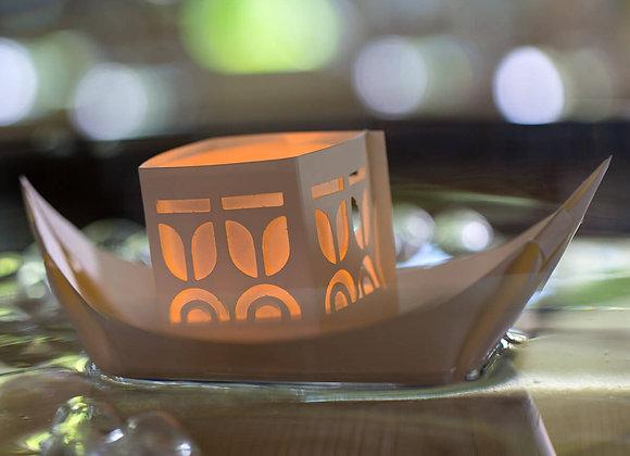 Teelicht Papierschiff