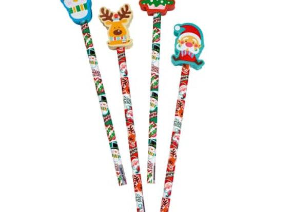 Bleistift Weihnachten mit Radiergummi