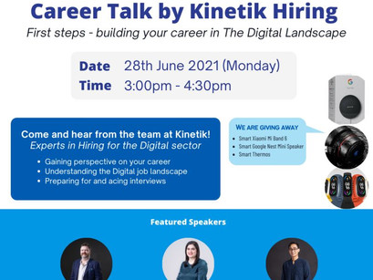 💥Kinetik Hiring   Market Bytes   Career Talk with SEGi University & Colleges 💥