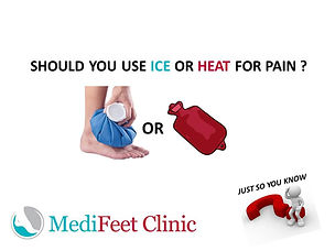 Ice or Heat for Foot pain