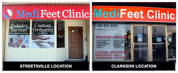 MediFeet Clinic Locations Mississauga