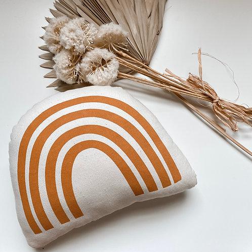 Rust Rainbow Pillow