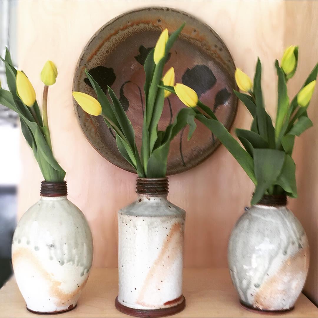 Ash glazed pots