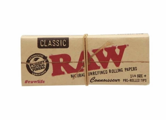 Raw Connoisseur Classic 1 1/4 Papers w/ Tips