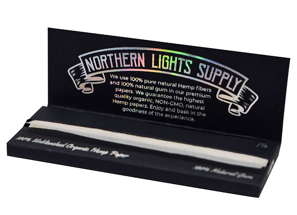 Northern Lights Supply 1/4 Size Unrefined Hemp NLS Rolling Papers