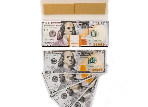 Empire Rolling - 1 Wallet $100 Bill (10 Papers) Benny King Size