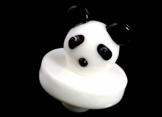 Panda Bear Glass UFO Carb Cap