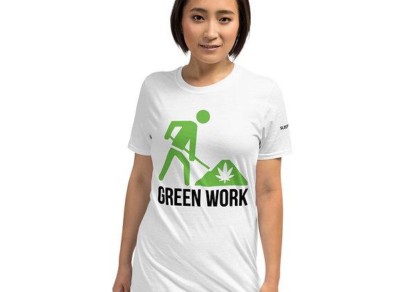 "Green Work ""Sleepy Synth"" Short-Sleeve Unisex T-Shirt"