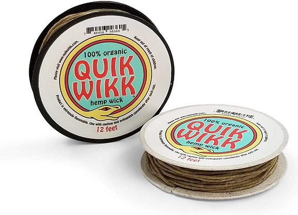 Quick Wikk 100% Organic Hemp Wick, 12 foot dispenser