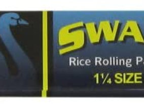 Swan 1 1/4 Rice Rolling Papers Blue