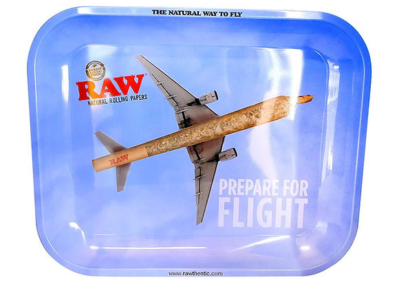 """RAW """"Prepare for Flight"""" Rolling Tray - Large"""