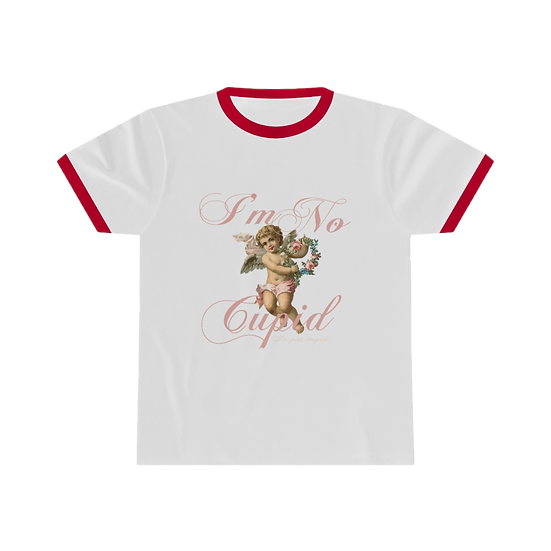 Stupid Cupid Ringer Tee - White/Red