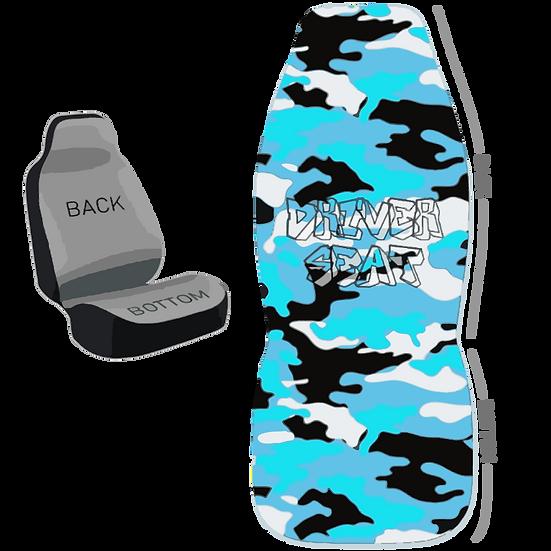 Blue Camo Seat Cover