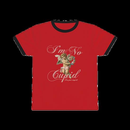 Stupid Cupid Ringer Tee - Red/Black