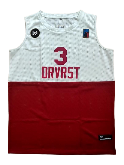 '65 Jersey - White/Red