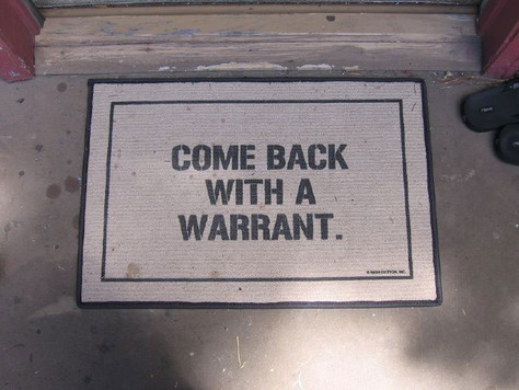"""Know your rights: """"Against unreasonable searches and seizures . . ."""""""