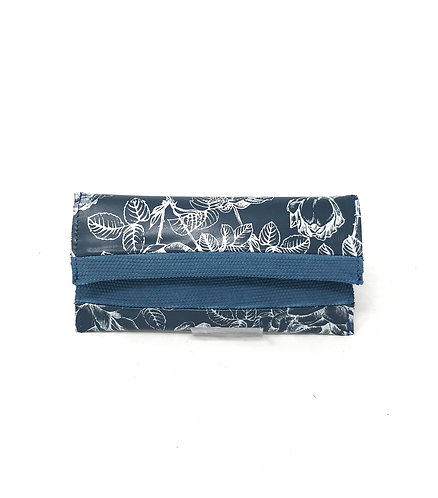 PORTA OCCHIALI - Blu/Fiori antichi