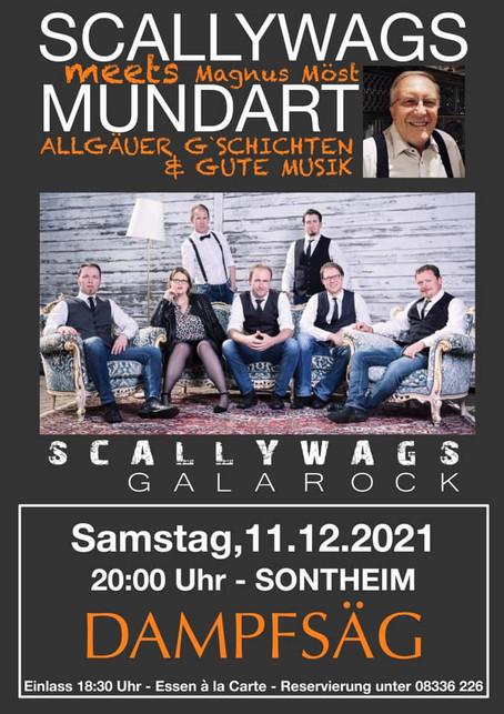 SCALLYWAGS meets MUNDART in der Dampfsäg in Sontheim