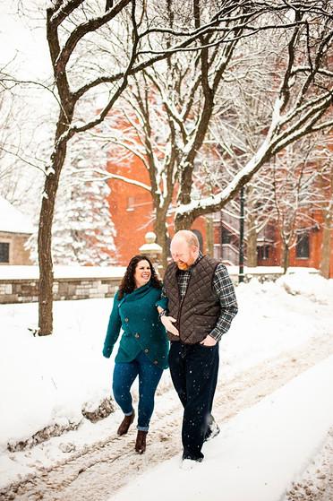 Blake & John's Winter Engagement Session | Union Station, Utica, NY