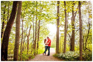 Aislinn & Brian's Engagement Session at Stone Quarry Hill Art Park   Cazenovia, NY