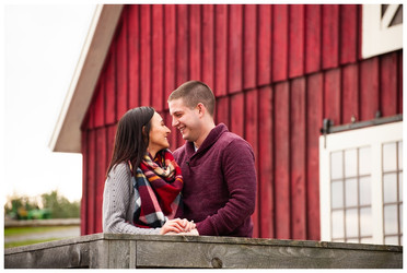 Stephanie & Joe's Engagement Session at Beak & Skiff Apple Orchards | Lafayette NY