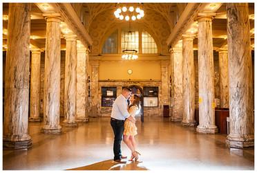 Martha & Zach's Engagement Session   Union Station, Utica, NY