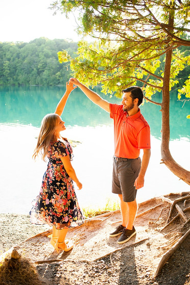 Andi & Ben's Engagement Session - Green Lakes State Park, Fayetteville, NY
