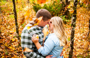 Carissa & Jacob's Fall Engagement Session | Salisbury Center, NY