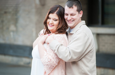 Ashley & Kevin's Engagement Session at Utica Train Station & Juliano Farms