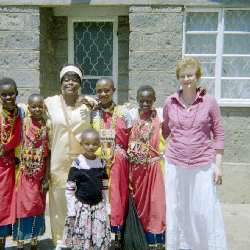 Missionaries with Masai