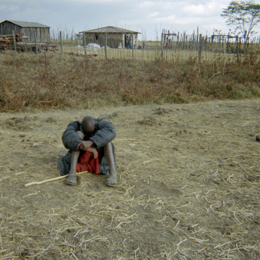Masai Warrior in Prayer